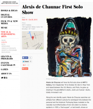 CULTURAL SERVICES OF THE FRENCH EMBASSY, ALEXIS DE CHAUNAC FIRST SOLO SHOW, September 16 - October 25, 2015