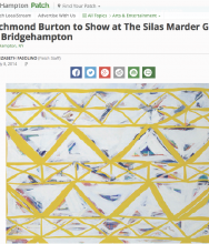 EAST HAMPTON PATCH | Richmond Burton to Show at The Silas Marder Gallery in Bridgehampton by Elizabeth Fasolino