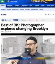 News 12 Brooklyn, Best of Brooklyn: Photographer explores changing Brooklyn, by Amanda Plasencia, April 11, 2015