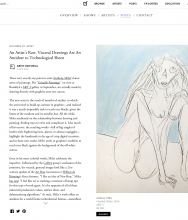 ARTSY Editorial | An Artist's Raw, Visceral Drawings are an Antidote to Technological Sheen by Heather Corcoran
