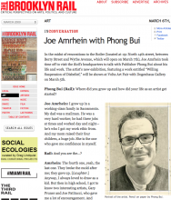 THE BROOKLYN RAIL: Joe Amrhein in conversation with Phong Bui