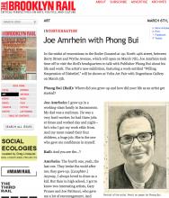 THE BROOKLYN RAIL: Joe Amrhein in conversation with Phong Bui