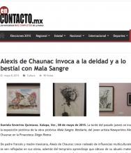 EN CONTACTO Alexis de Chaunac invoca a la deidad y a lo bestial con Mala Sangre, by Daniela Severino, May 8, 2015