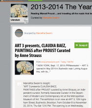 SCOOP.it | ART 3 presents, CLAUDIA BAEZ, PAINTINGS after PROUST Curated by, Anne Strauss | by Marcelita Swann