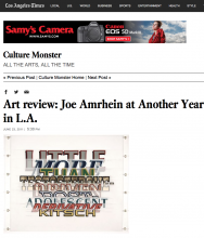 ART REVIEW: Joe Amrhein at Another Year in L.A.