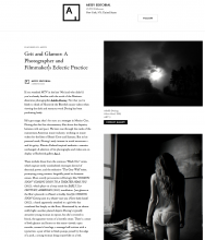 ARTSY EDITORIAL |  Grit and Glamor: A Photographer and Filmmaker's Eclectic Practice by Bridget Gleeson