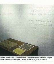ART IN AMERICA, Marjorie Welish and Olivier Gourvil at the Slought Foundation, May 2002