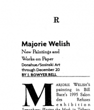 Marjorie Welish review by J. Bowyer Bell