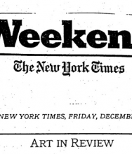 THE NEW YORK TIMES, Art in review December 19, 1997