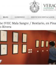 VERACRUZ Exhibe IVEC Mala Sangre / Bestiario, en Pinacoteca Diego Rivera