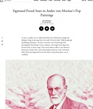 ARTSY Editorial | Sigmund Freud Stars in Andre von Morisse's Pop Paintings, by Ari Spool