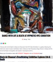 EYES IN Magazine, Dance With Life & Death at Hypnotic NYC Exhibition, Alexis de Chaunac's Breathtaking Exhibition Explores Life & Death