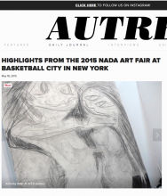 AUTRE: HIGHLIGHTS FROM THE 2015 NADA ART FAIR AT BASKETBALL CITY IN NEW YORK, by Oliver Maxwell Kupper, May 18, 2015