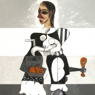 """Ray Smith's """"Unguernica"""" Pays Homage to Picasso's Startling Anti-War Painting"""