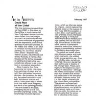 February 2007 Art in America