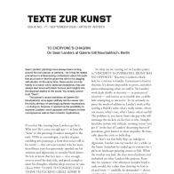 Texte Zur Kunst