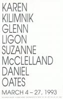 Karen Kilimnik, Glenn Ligon, Suzanne McClelland and Daniel Oates
