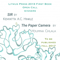 Kenyatta A.C. Hinkle's book SIR to be published by Litmus Press