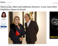 MOTORCYCLES, MIRÓ AND CATHERINE DENEUVE AT GALERIE GMURZYNSKA
