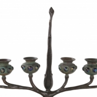 Six Branch Jeweled Candelabrum