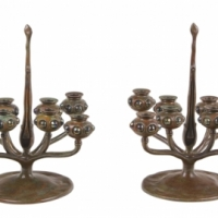 Pair of Jeweled Candelabra's