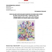 Press release: Earlier Works