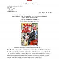 Press release: Mr. Brainwash represented by Bivins Gallery