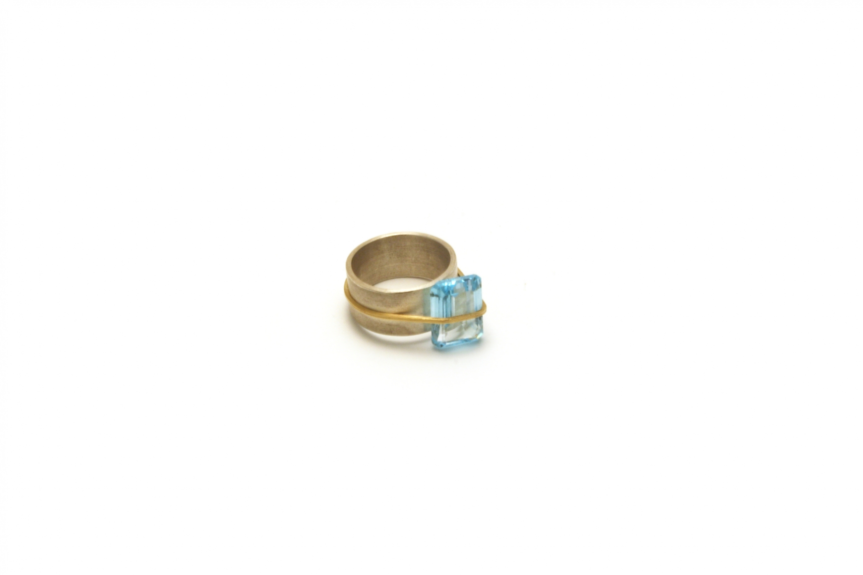 with ring shivani rings contemporary pierced sapphire gold and by shop green