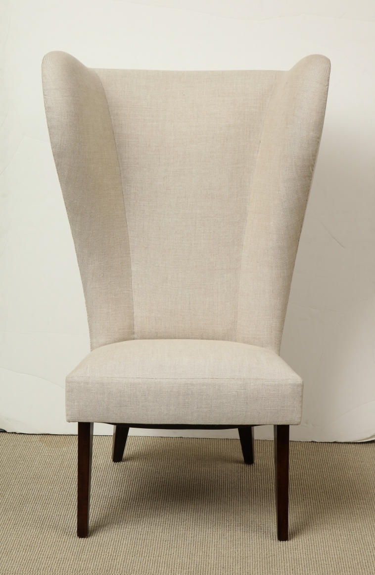 Pair Of Exaggerated Wingback Chairs Collections Eric Appel
