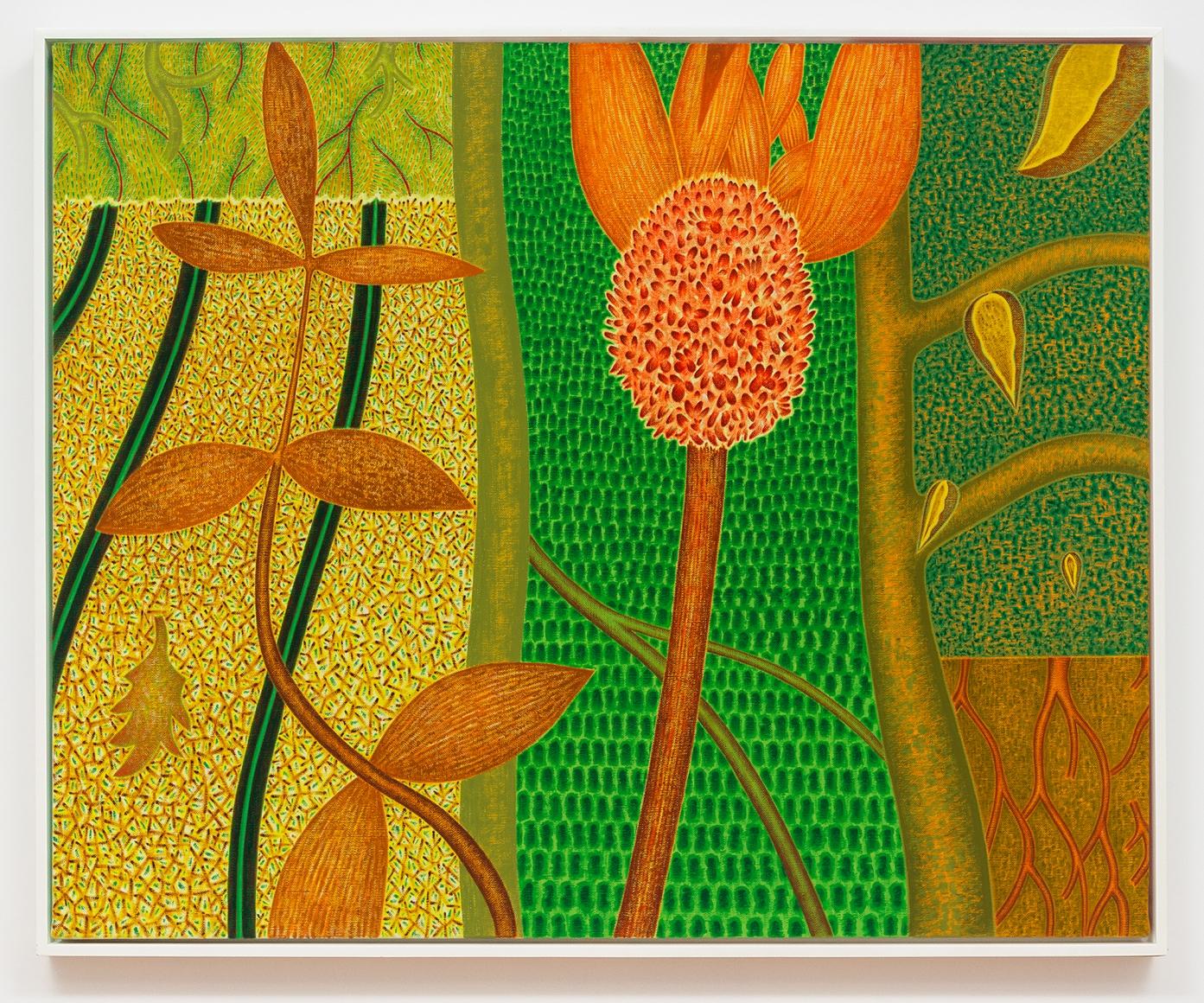 3 Gardens, 1990, Oil on canvas