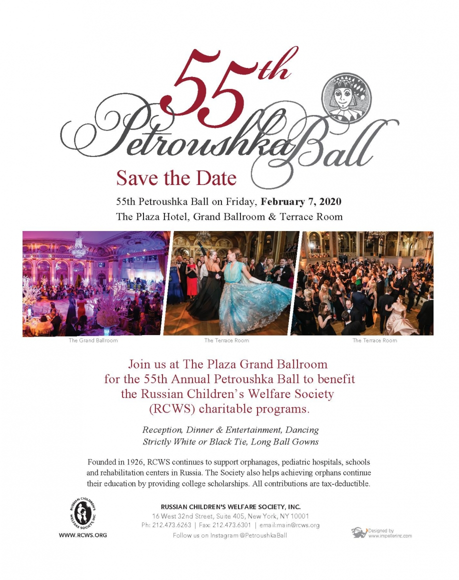 54th Petroushka Ball - Events - Russian Children's Welfare Society