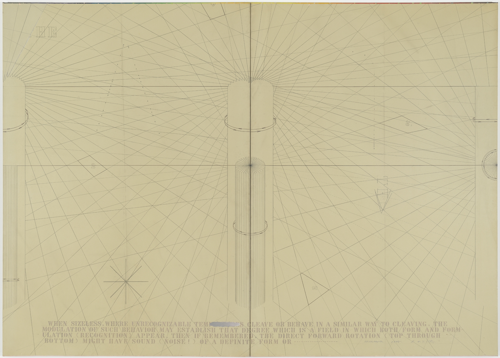 Arakawa, Degrees of Return, 1975