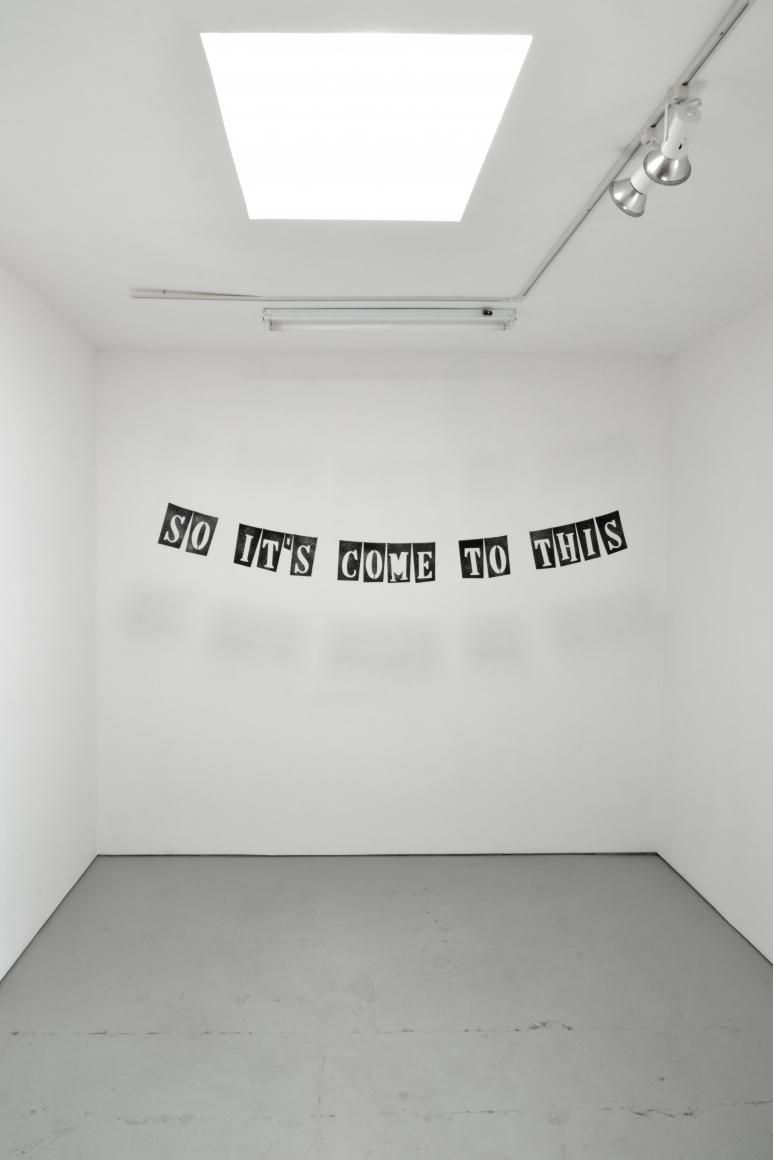 Installation view Banner for Contemporary Art
