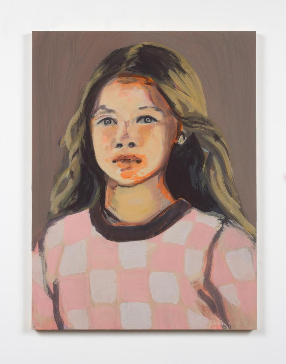 "Claire Tabouret, ""Makeup (pale pink),"" 2016"