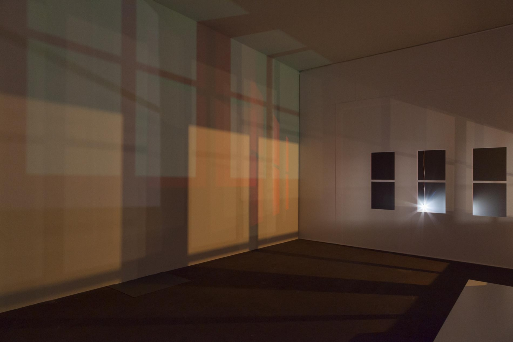 SPENCER FINCH Study For Light In An Empty Room Studio At Night 2015 Mixed Media Installation Dimensions Variable