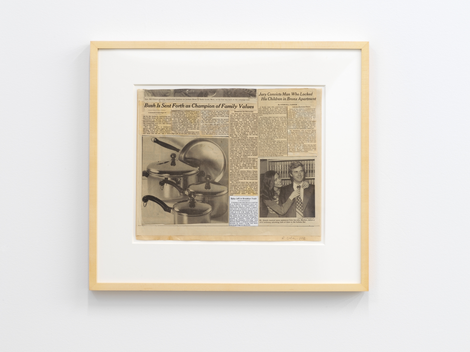 I plan to stay a believer exhibitions andrew kreps untitled 1992 collaged newspaper with photocopy paper 11 14 x 13 34 in 286 x 349 cm framed 18 34 x 21 x 1 in 476 x 533 x 25 cm jeuxipadfo Images