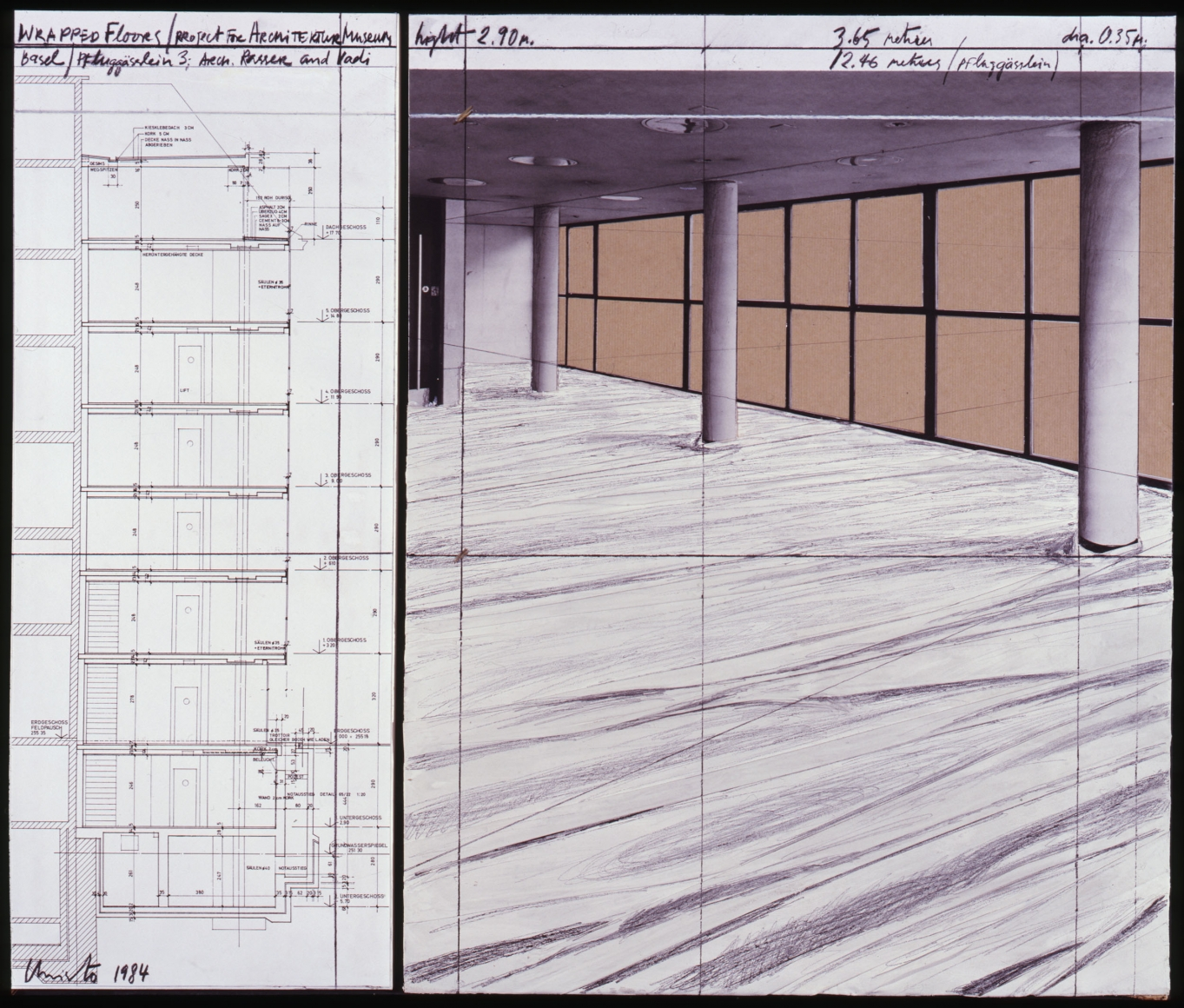 d3f6228d1940 CHRISTO, Wrapped Floors, Project for Architektur Museum Basel, 1984