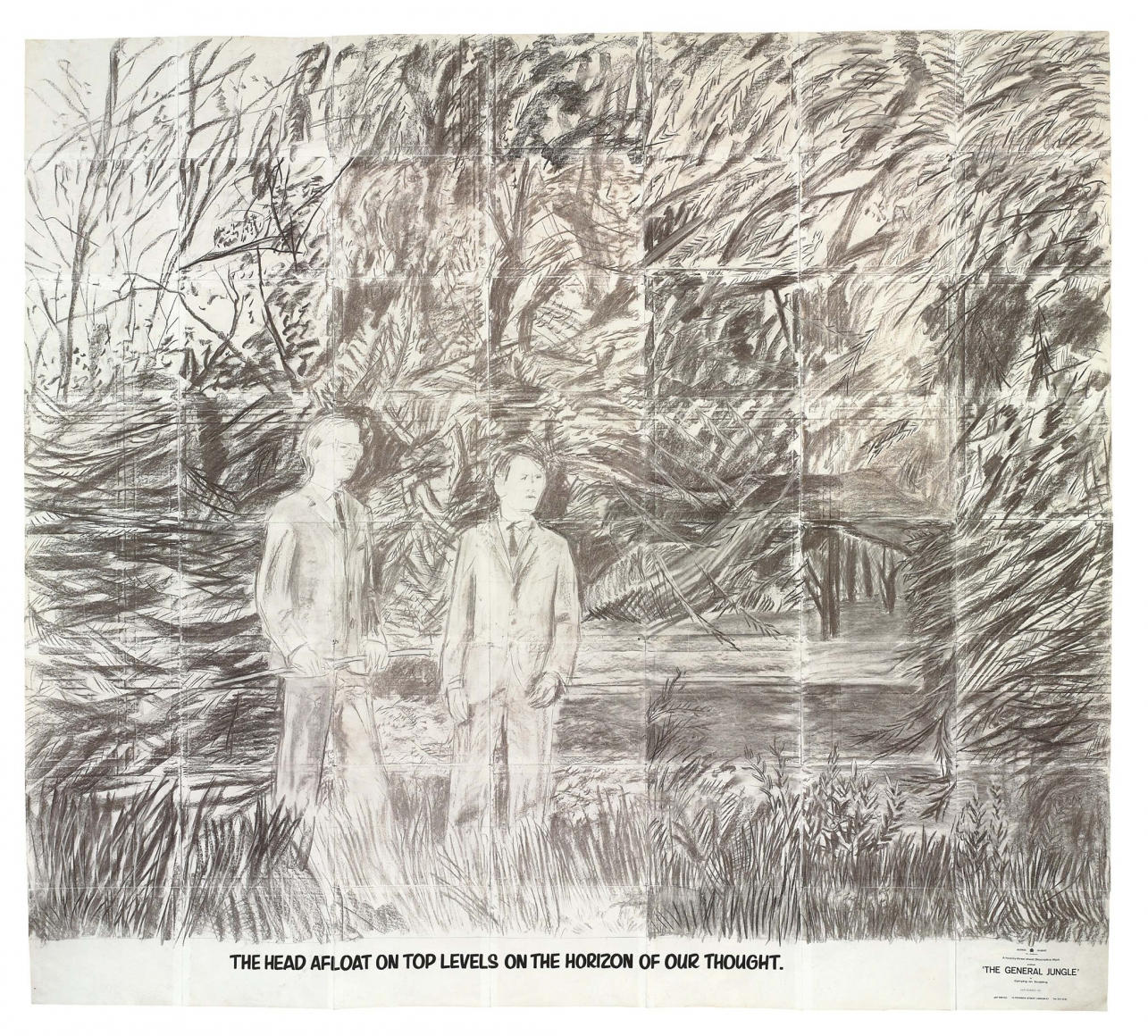 GILBERT & GEORGE, THE HEAD AFLOAT ON TOP LEVELS ON THE HORIZON OF OUR THOUGHTS, (from the series The General Jungleor Carrying on Sculpting), 1971