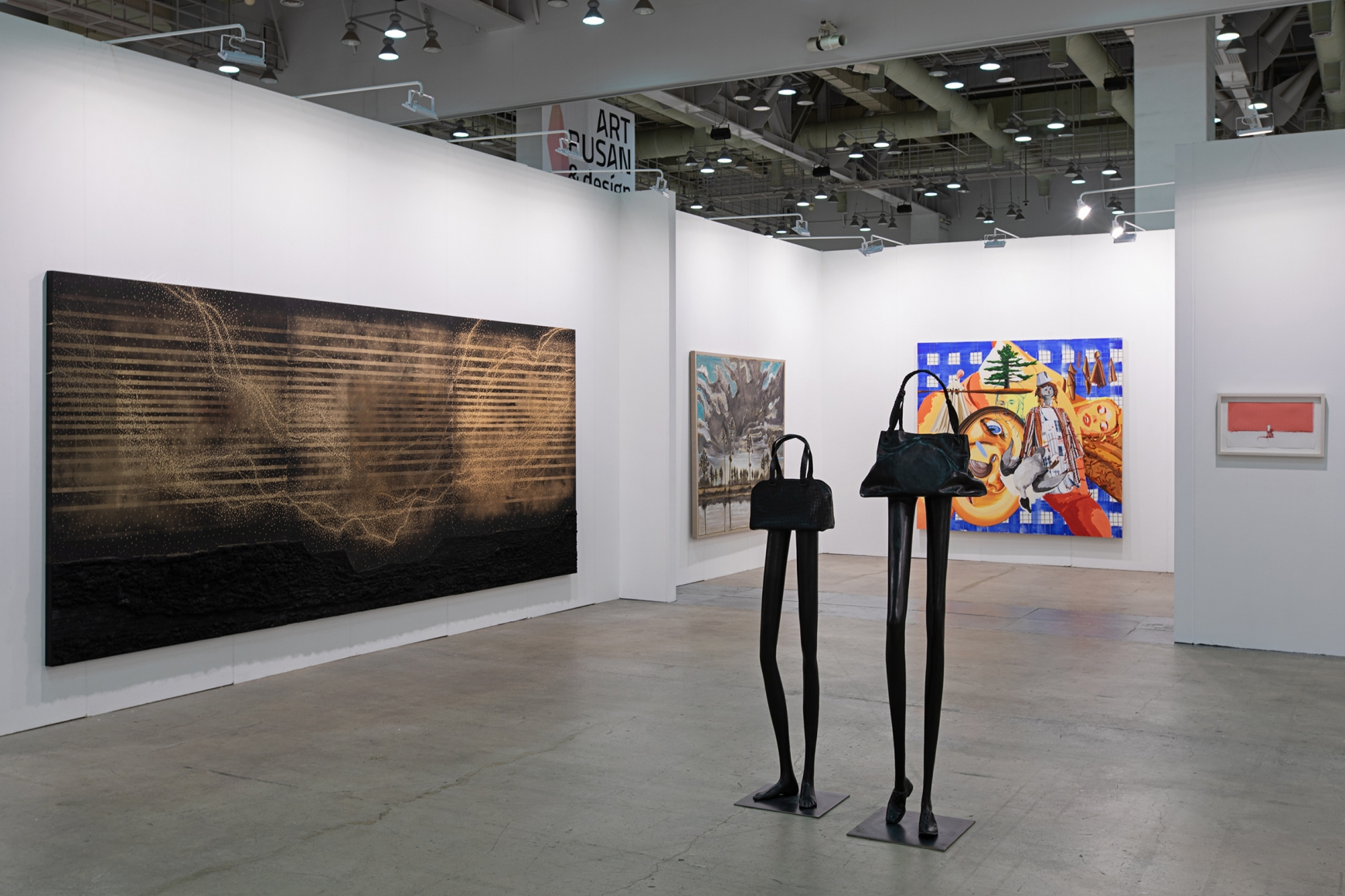Fourth installation view of Lehmann Maupin's booth at Art Busan & design 2020