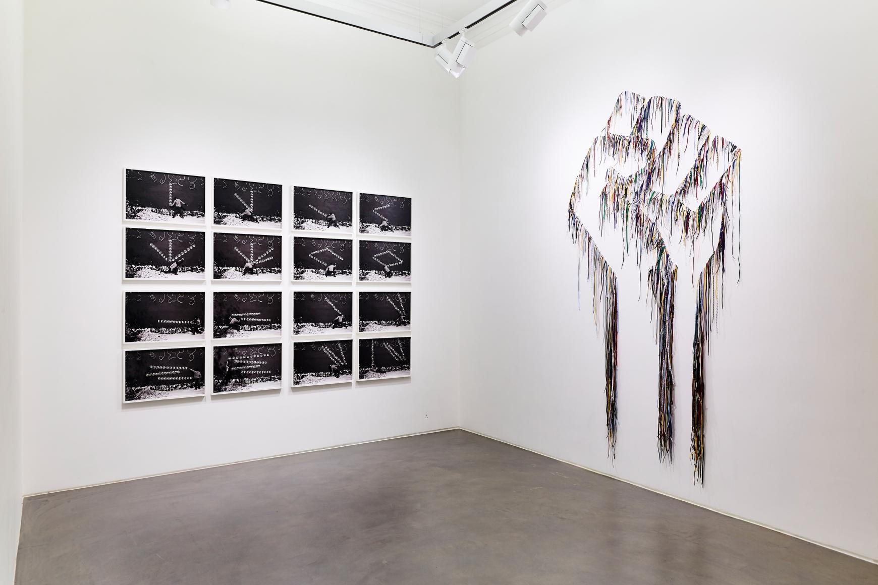 Exhibition view 1 of Robin Rhode & Nari Ward: Power Wall