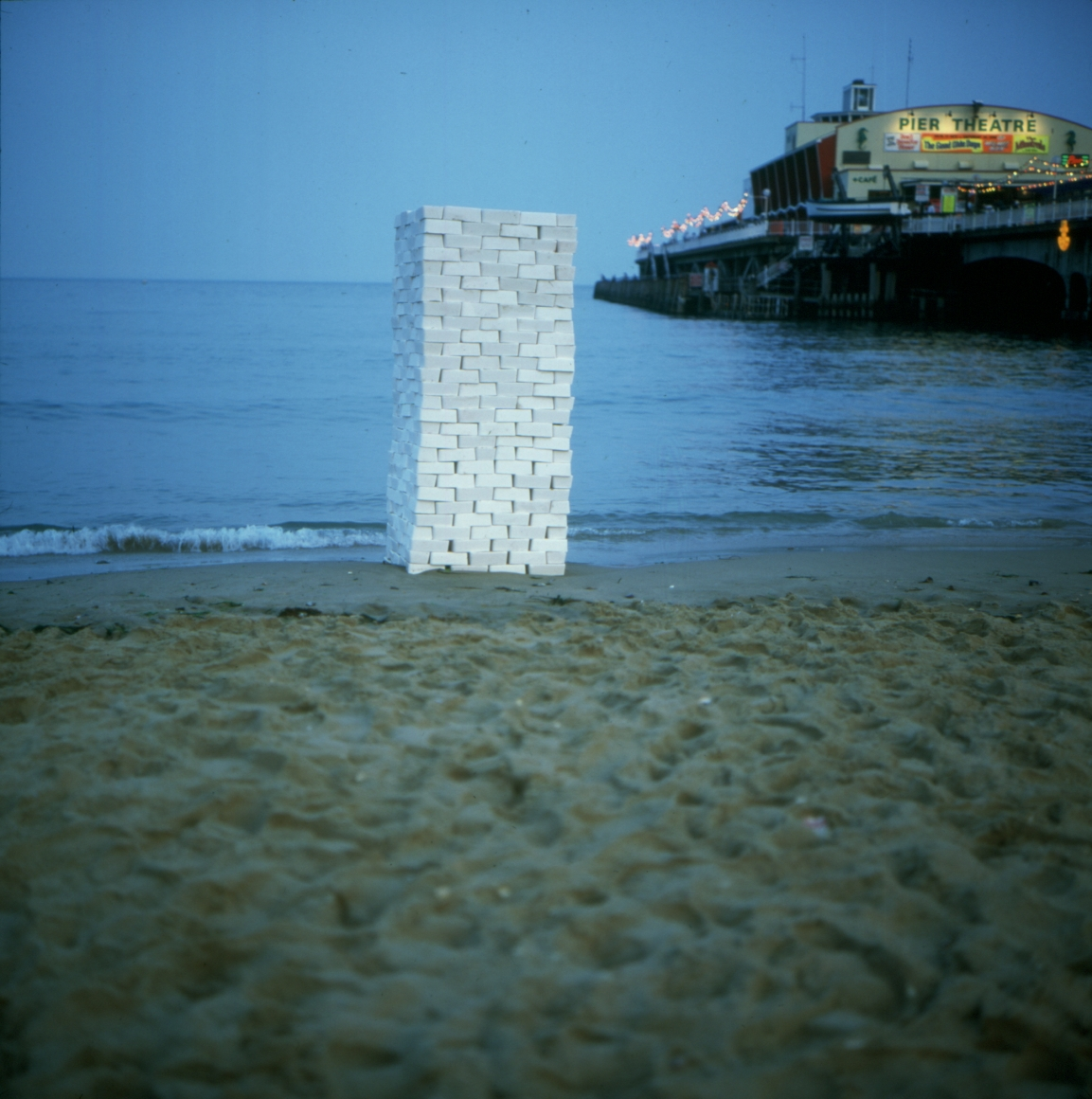into the blue, 1993, One ton of salt bricks on Bournemouth beach