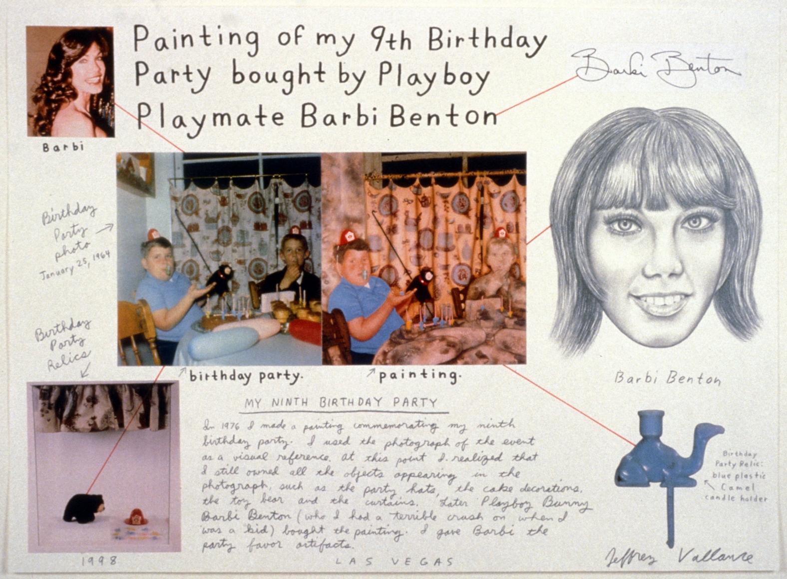 JEFFREY VALLANCE, Painting of My 9th Birthday Bought by Playboy Playmate Barbi Benton, 1998