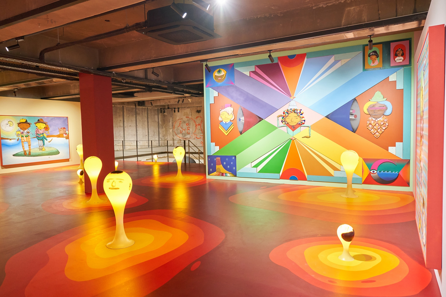 Third installation view of the exhibition OSGEMEOS: You Are My Guest in Seoul