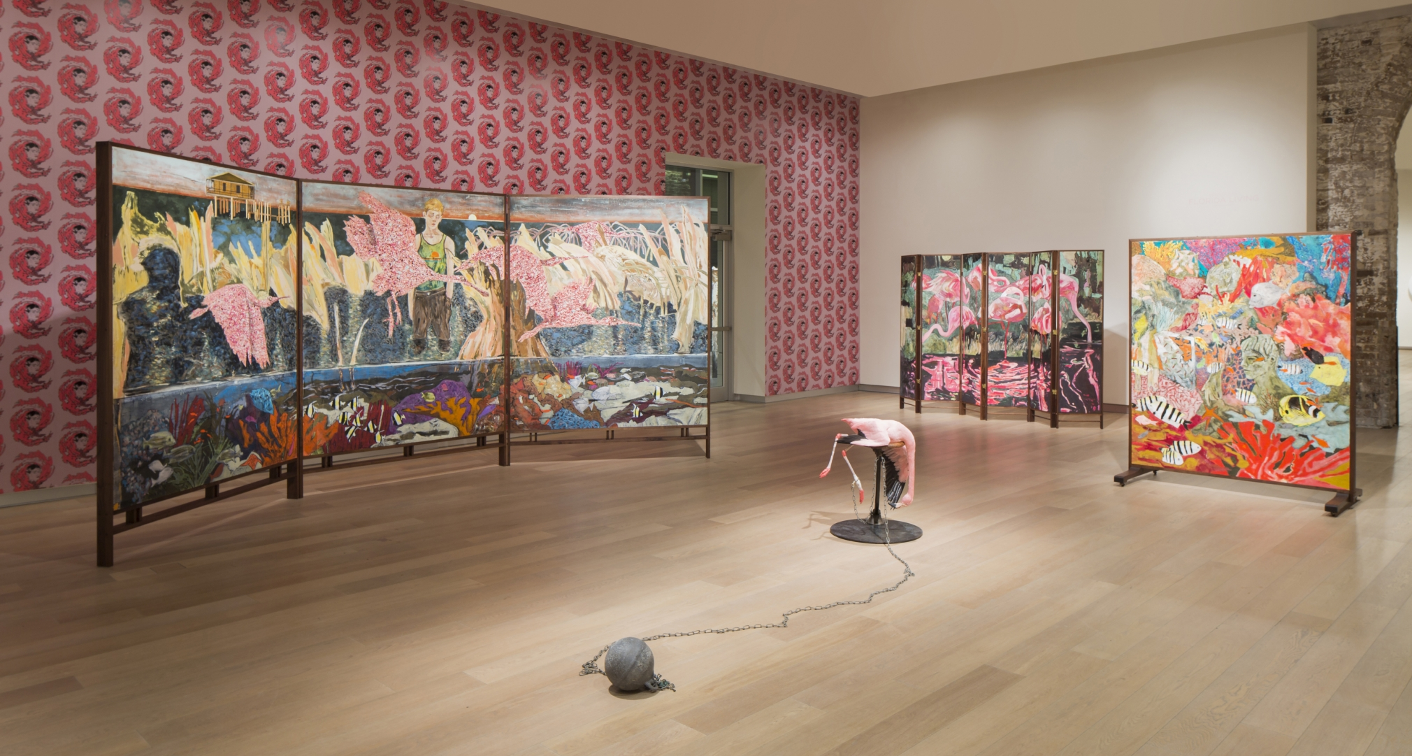 Hernan Bas, Florida Living, Installation view, SCAD Museum of Art, Savannah, GA, 2017