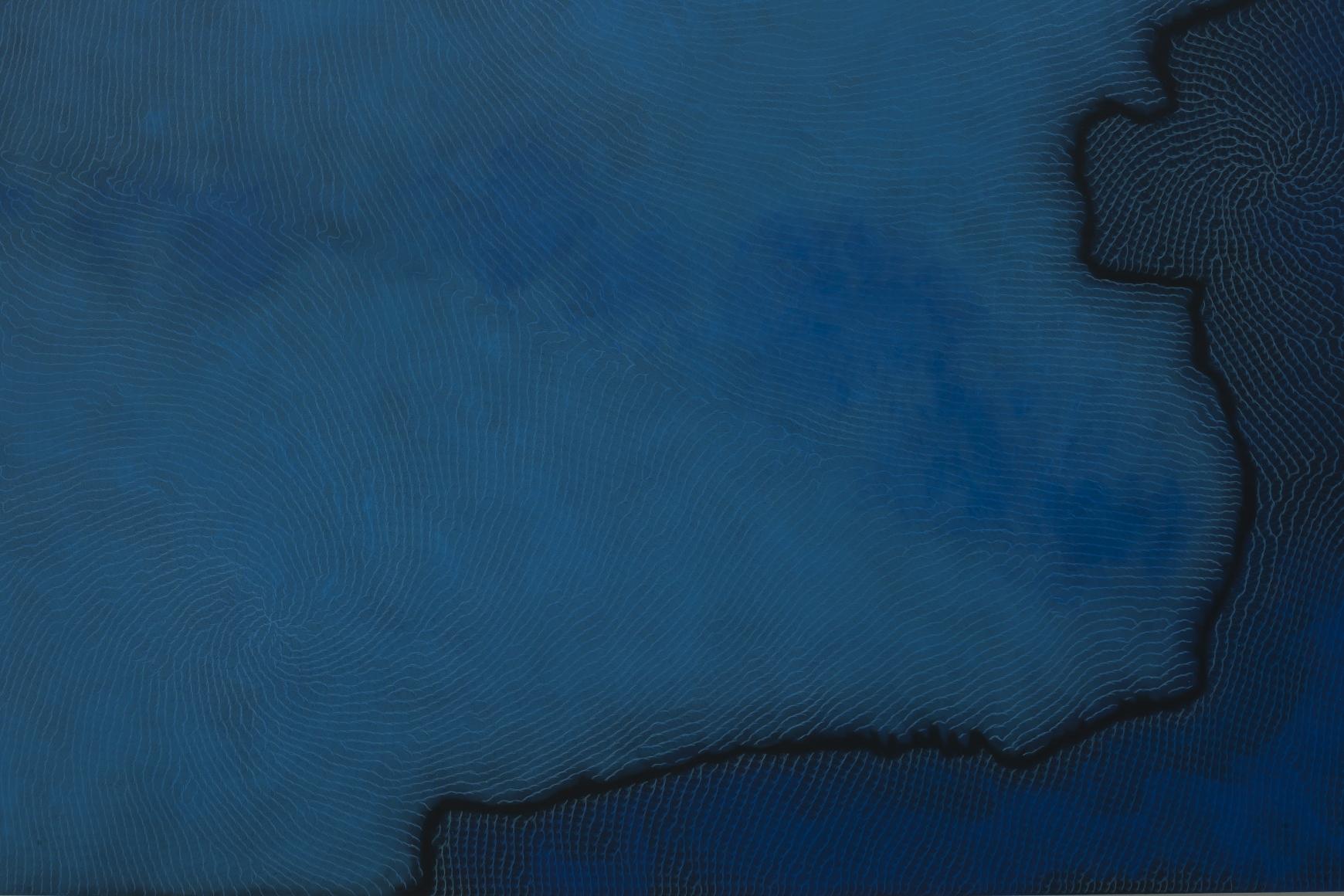 施拉澤·èµ«ä»€é˜¿é‡Œ Echo(detail),2013 鉛筆 顏料 鋁 畫布
