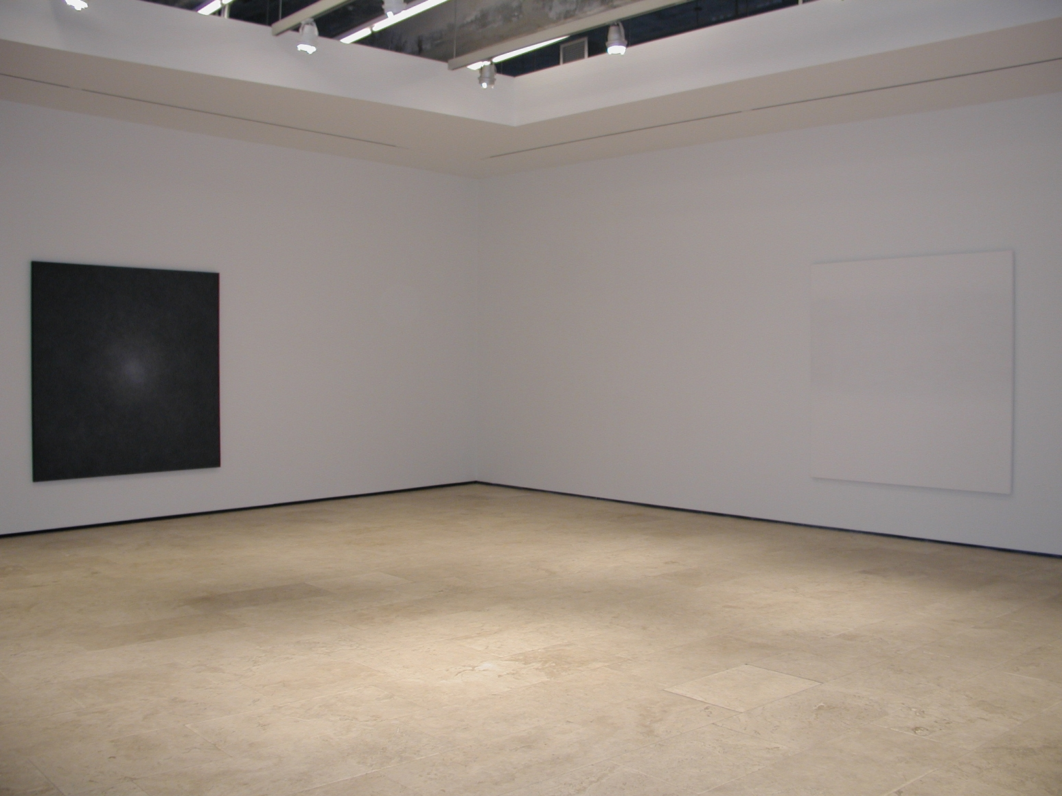 Installation view of Shirazeh Houshiary exhibition in 2003 at Lehmann Maupin in New York, view 3