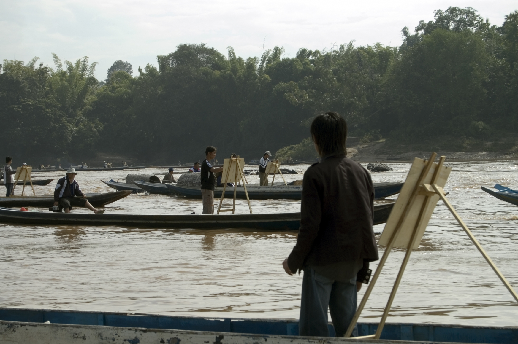 First video still from Jun Nguyen-Hatsushiba's The Ground, the Root, and the Air: The Passing of the Bodhi Tree, 2007