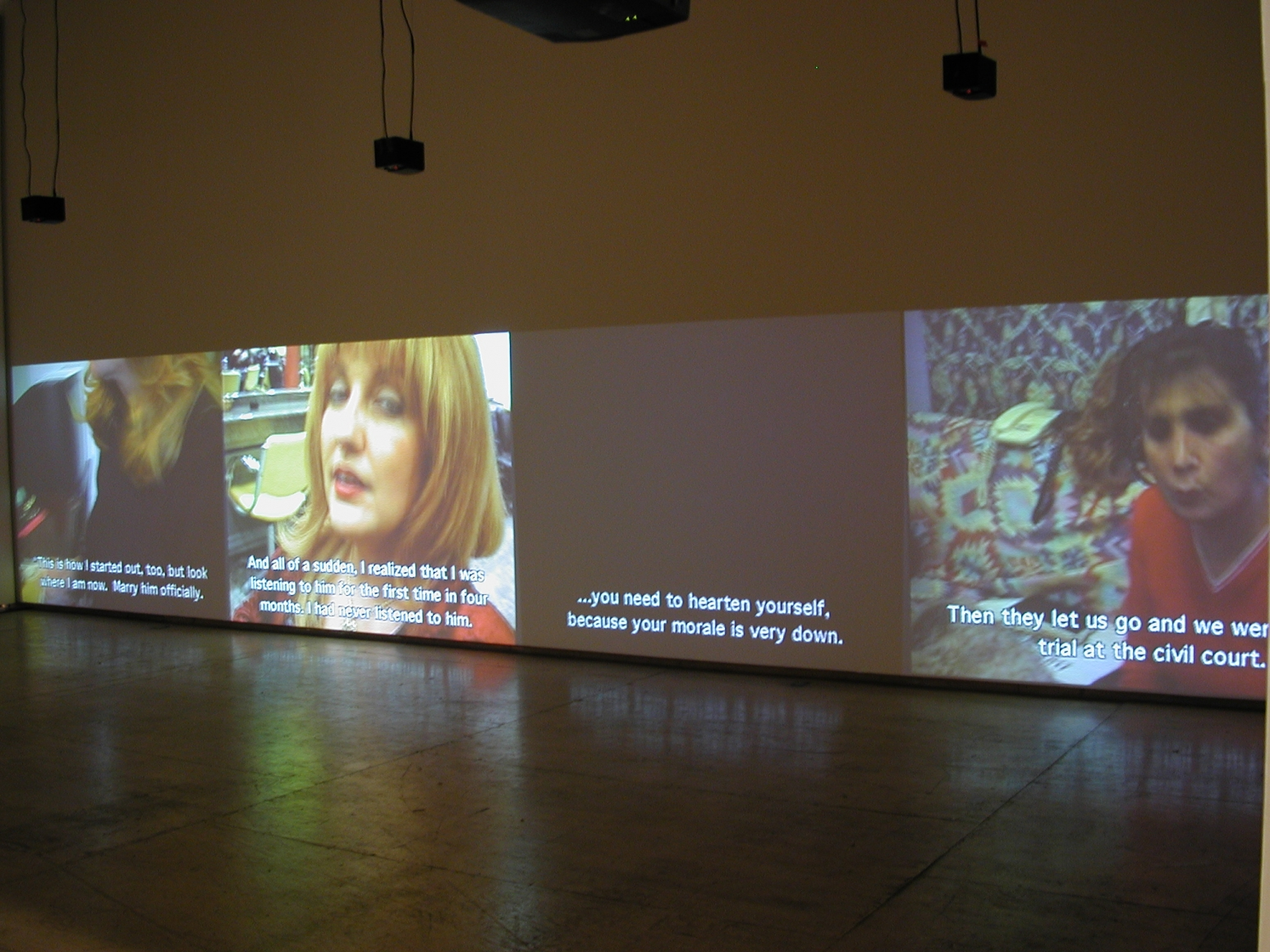 Women Who Wear Wigs , 1999 Installation at Lehmann Maupin view 2