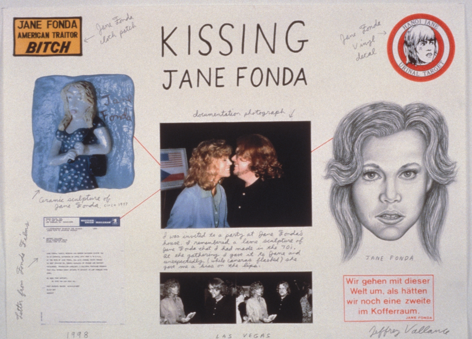 JEFFREY VALLANCE, Kissing Jane Fonda, 1998