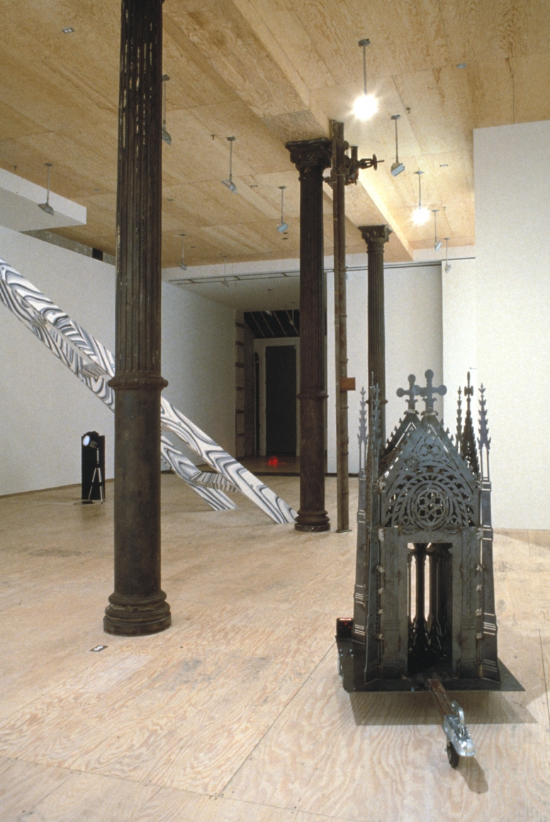 Installation view of Moving Structures at Lehmann Maupin in New York, view 2